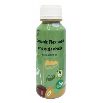 Organic flaxseed and nuts drink